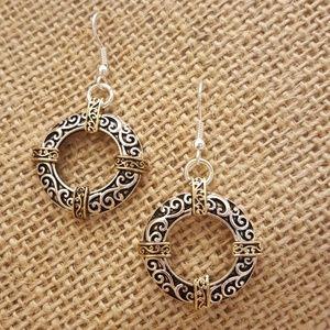 Jewelry - Antique Style Scroll Earrings
